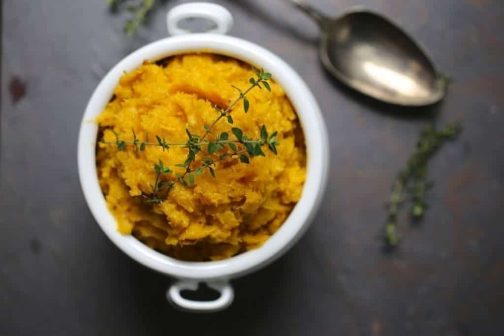 Mashed Butternut Squash with Thyme and Mascarpone