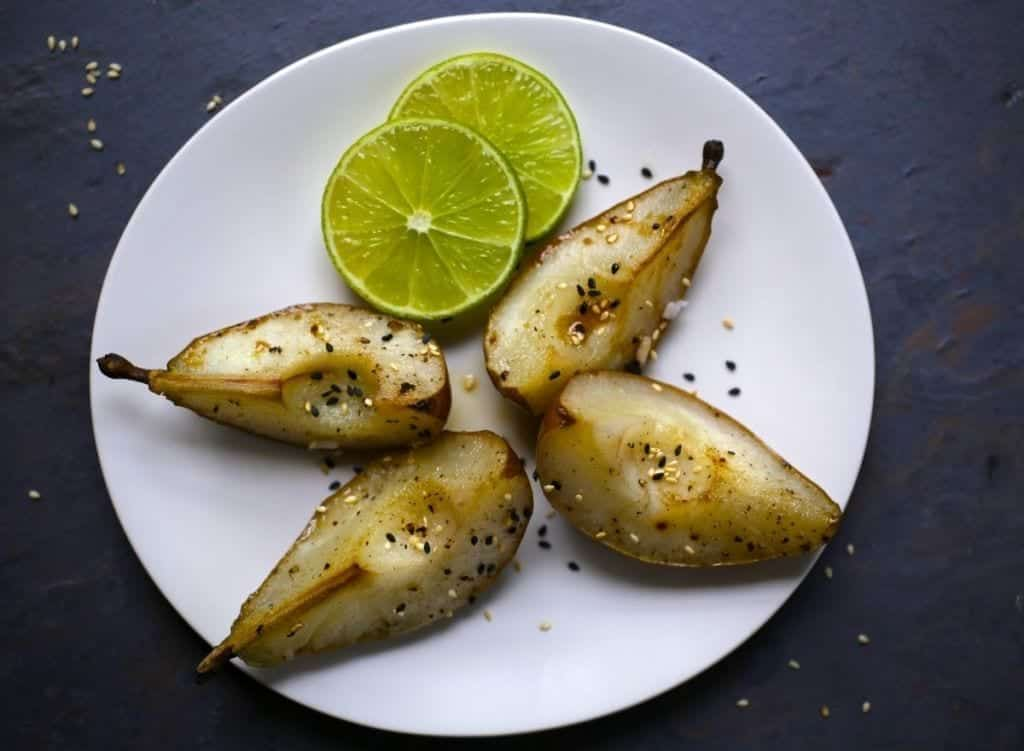 Sesame Roasted Pears