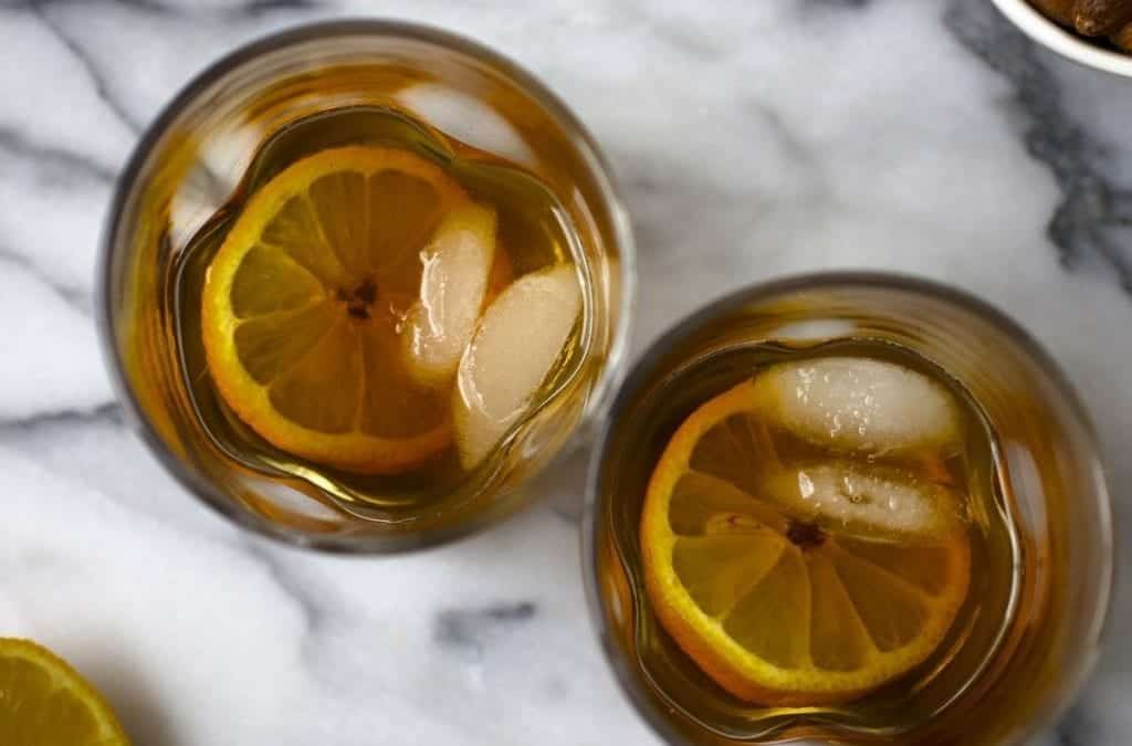 Our winter warmer — Maple-syrup Old Fashioned