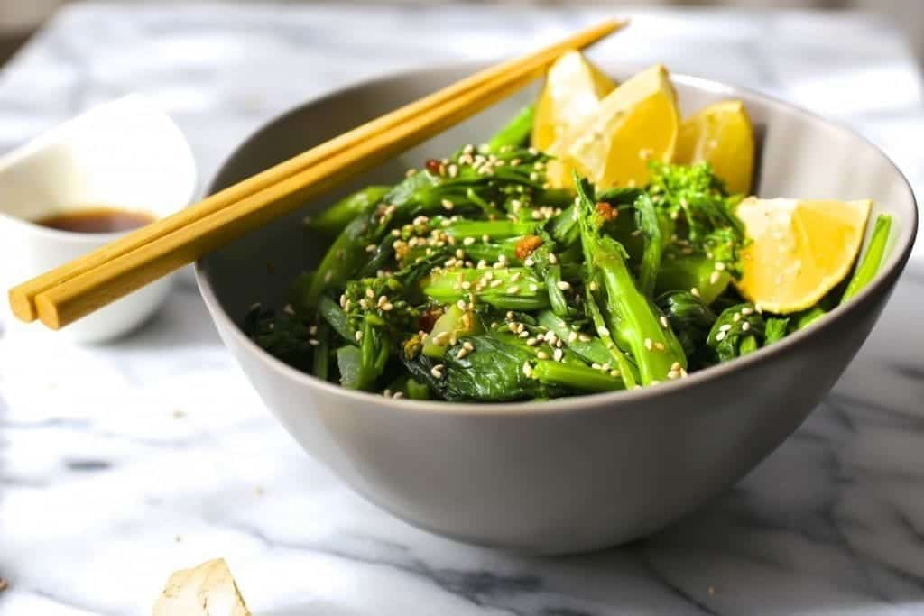 Chinese Broccoli Salad with Sesame Citrus Dressing