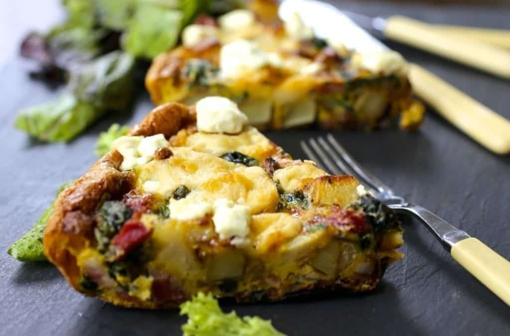 Potato, Spinach and Cheese Frittata