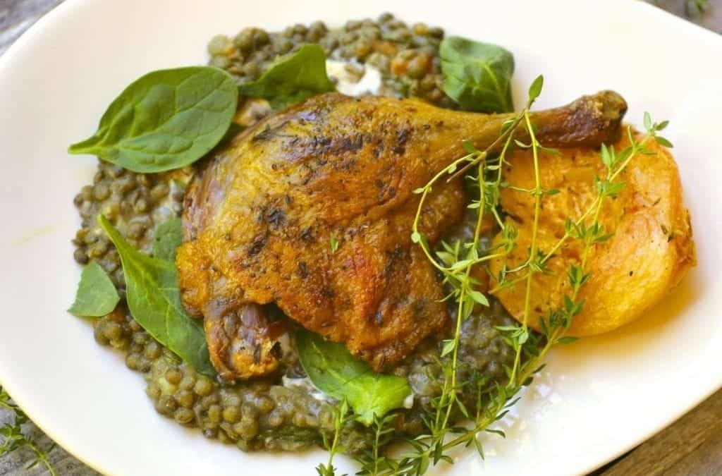 Crispy Spiced Duck Legs with Thyme