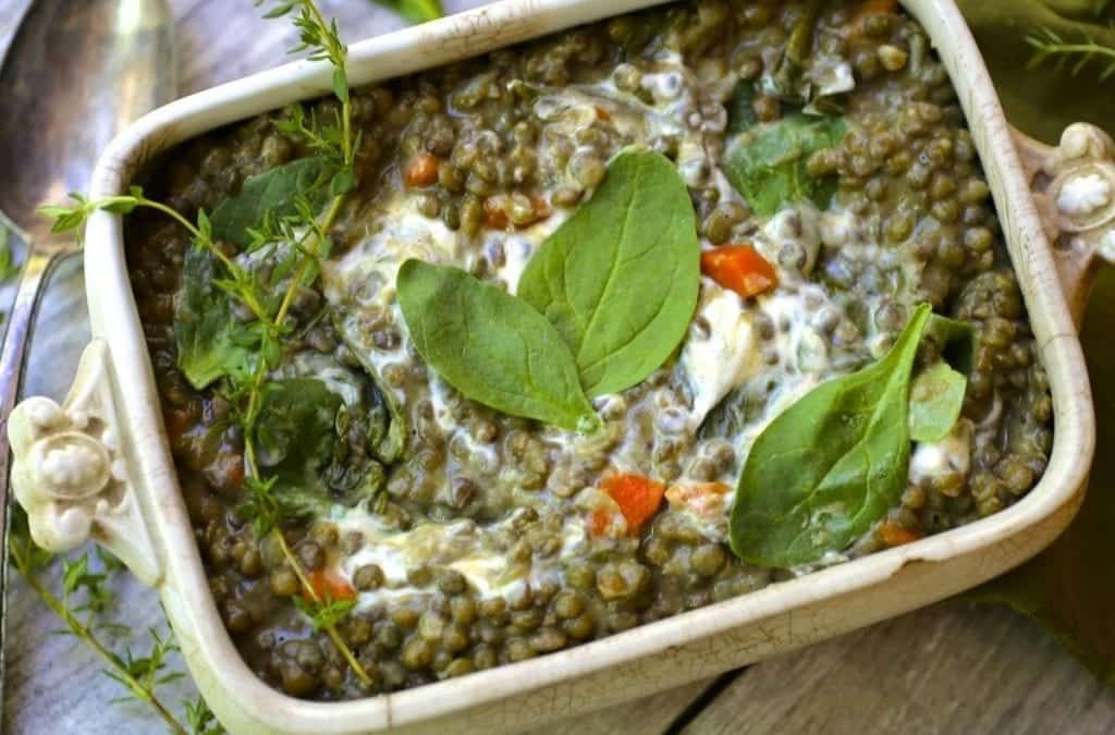 Puy Lentils with Spinach