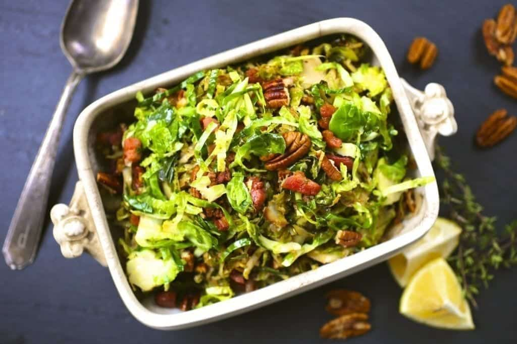 Thanksgiving recipes: Shredded Brussels Sprouts with Bacon and Pecans