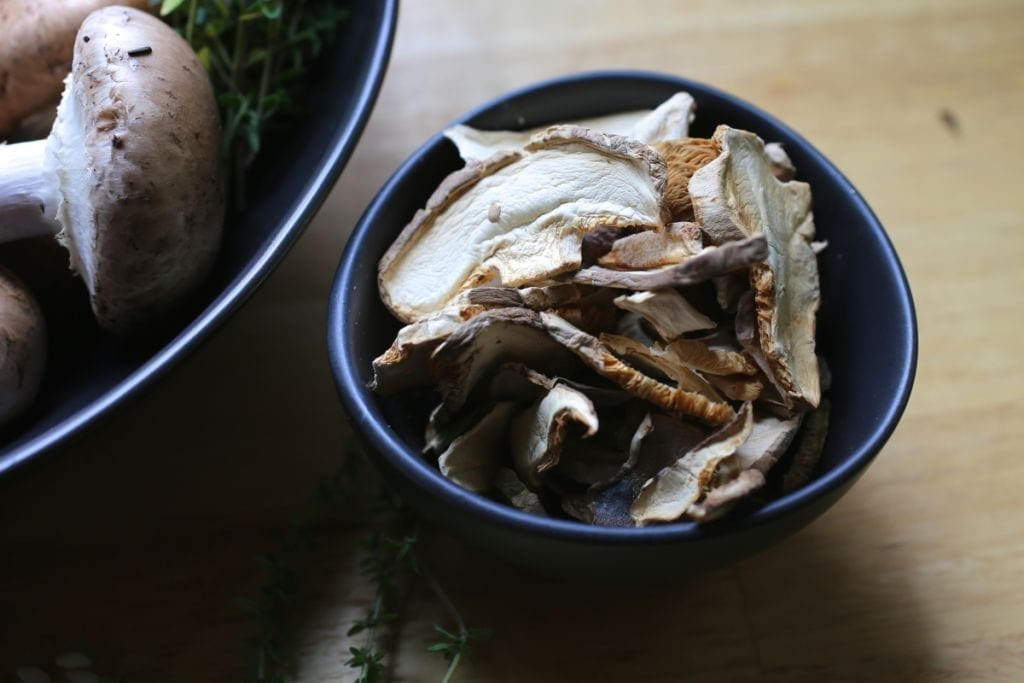 Dried wild mushroom mix with porcini
