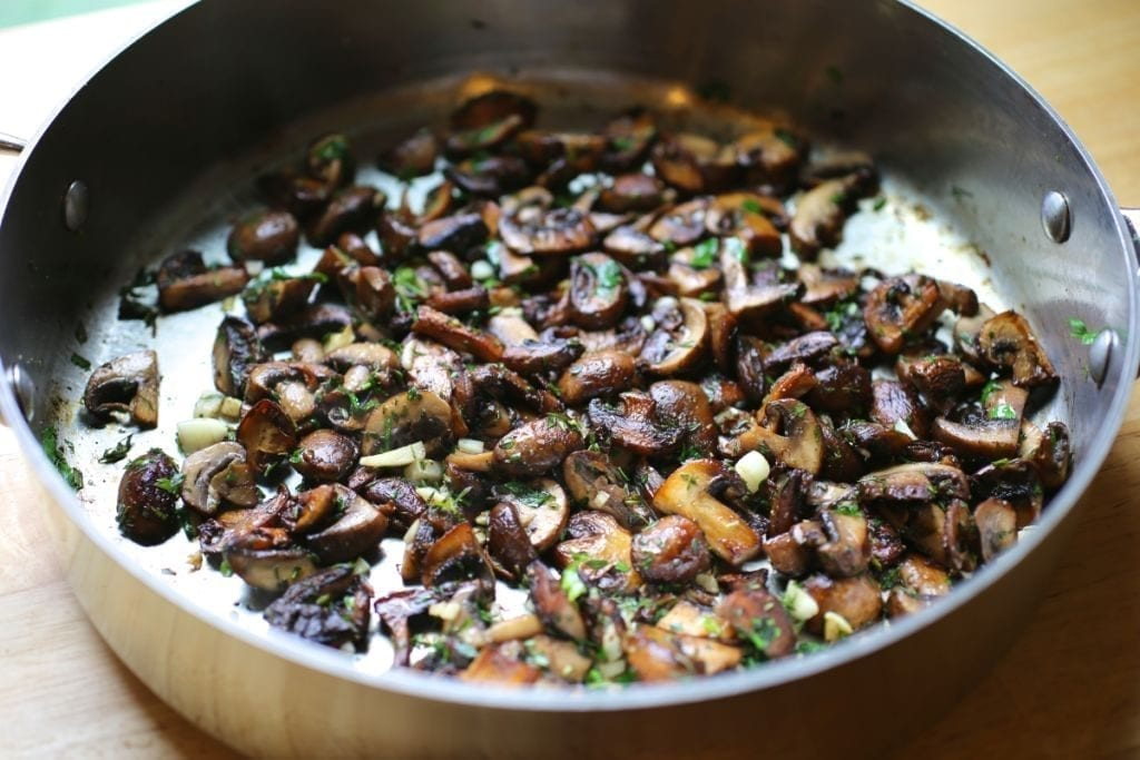Mushrooms for risotto