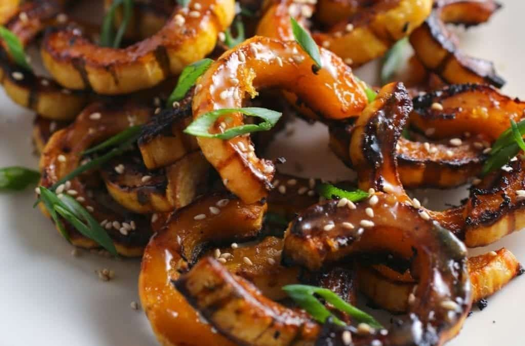Roasted Delicata Squash with Miso-Maple Butter
