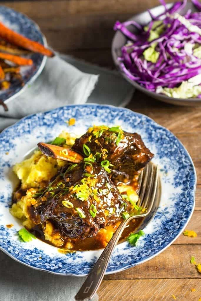 Braised Beef Short Ribs with Honey, Soy and Orange