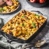 Stuffing with Apples, Sausage and Fennel