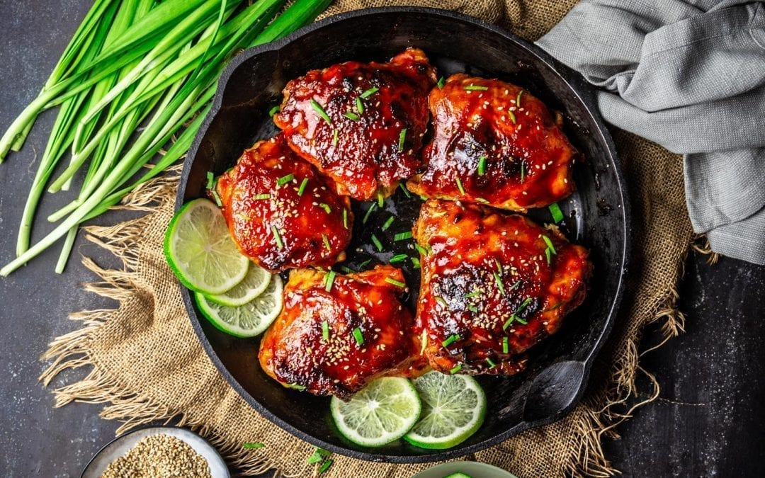 Sticky Gochujang-Honey Chicken